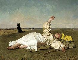 Indian summer by Chełmoński