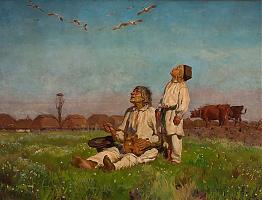 Bociany by Józef Chełmoński
