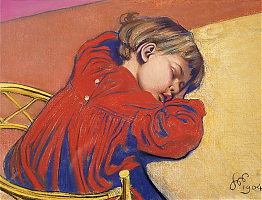 Sleeping Staś by Stanisław Wyspiański